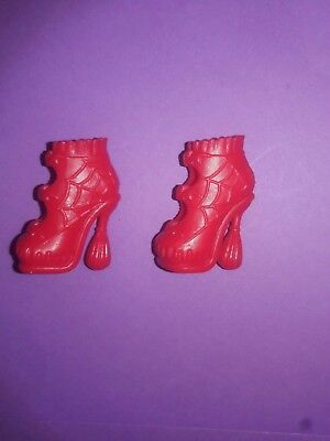 Monster High Doll Clothes Ghoul Fair Elissabat Red Boots Shoes Heels