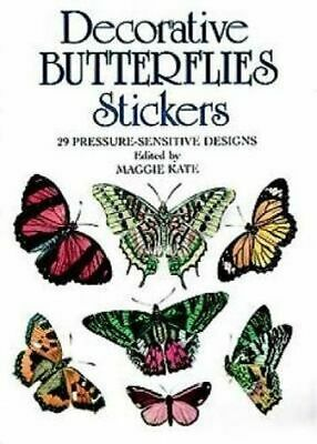 NEW Decorative Butterflies Stickers By MAGGIE KATE Paperback Free Shipping