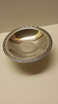 Antique Oneida Silversmiths Silverplated Footed Candy Dish