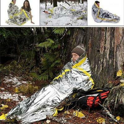 Camping Thermal Sleeping Bag Emergency Survival Hiking Blanket Gear Outdoor LJ