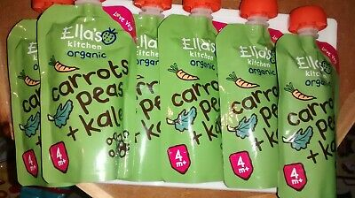 Ella's Kitchen Organic Baby Food Pouches Carrots, Peas & Kale x6 Unwanted
