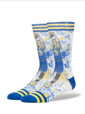 f0714276c2d Stance Nwt Nba Steph Curry Golden State Warriors Big Head Socks Size Large  9-12