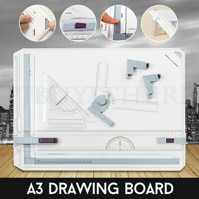 A3 Drawing Board Portable Drafting Kit Head Tilters Set Square Table Adjustable