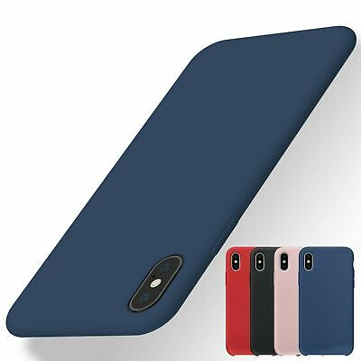 For Apple iPhone XS Max X XR Shockproof Silicone Case Soft Slim Rubber Gel Cover