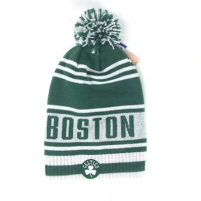 1129e1e53f6da NWT NBA Boston Celtics Adidas Cuffless Pom Winter Knit Hat Cap Beanie NEW!