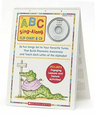 NEW ABC Sing-Along Flip Chart By Teddy Slater Book with Other Items