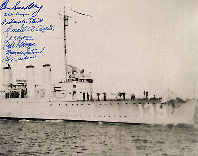 """USS WARD signed 11x14 Pearl Harbor """"Fired the first shot of the Pacific War"""""""