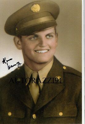 Ken Krenz WWII C-47 Pilot/NFL Packers France, Ardennes, Rhine Land, signed PHOTO