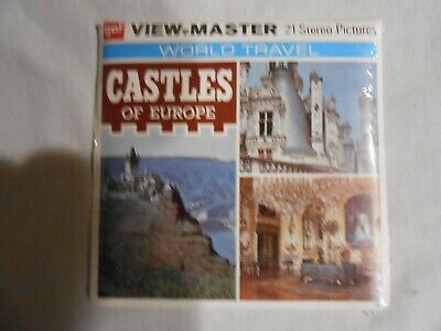 GAF Vintage View-Master 3-Reel sealed World Travel Castles of Europe  free ship