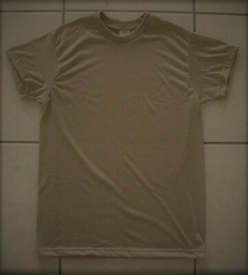 daf153ec8 New Military Surplus 100% Polyester Moisture Wicking T-Shirt Brown Large