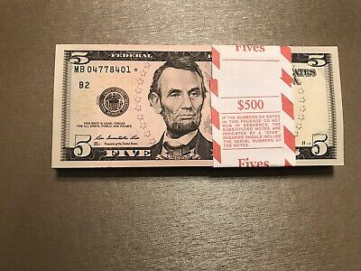 2013 UNCIRCULATED STAR notes Bundle Of 100 $1 Star Notes