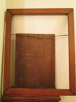 Antique Arts and Crafts OAK Picture Frame Beaded edge Large 27.5 x 22.5