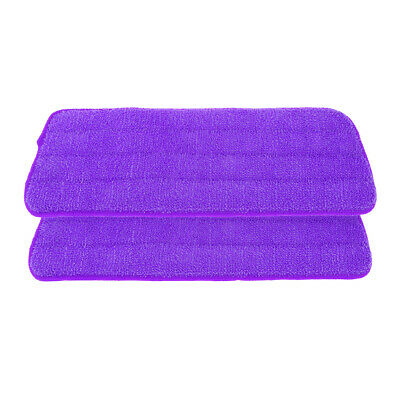 2 Pcs Microfiber Wet&Dry Mop Pads for Sweeper High Water Absorption Purple