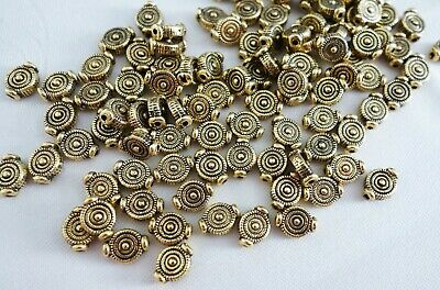 30 Antique Gold Coloured 9mmx7mm Spacer Beads #sp0115 Jewellery Making