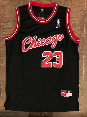 1984 Michael Jordan ROOKIE #23 Black Throwback Vintage Jersey Chicago Bulls