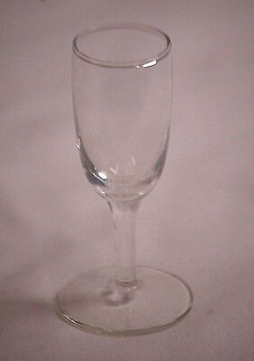 "Vintage Elegant 3-7/8"" Clear Cordial Glass Stemware Bar Barware Unknown Maker a"