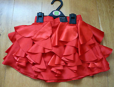 BNWT M&S Autograph Stunning Red Party Skirt, Size 2-3 years, Brand New!