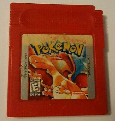 Pokemon Red Version (Nintendo Game Boy) - Authentic, Used, Saves, Label Damage