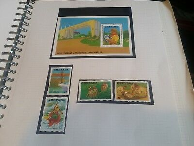 Grenada 1988 Sg 1755-1758 & Ms1759 World Scout Jamboree Mnh