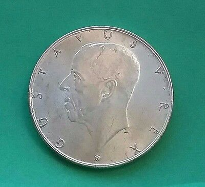 Sweden 1938 Silver 2 kroner 300th year Anv. Mayflower