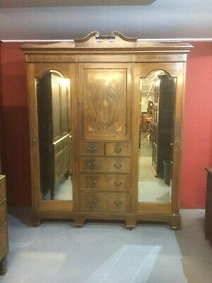 Antique Inlaid Mahogany Compactum Wardrobe SN-419a