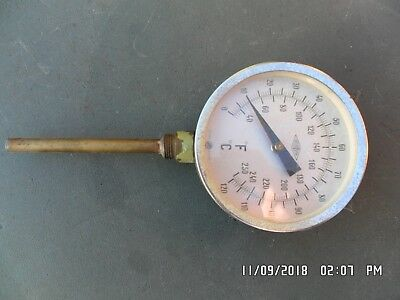 brannan sweeden cylinder / boiler water temperature gauge / clock