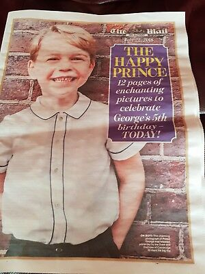 PRINCE GEORGE 5th BIRTHDAY  NEWS PULLOUT