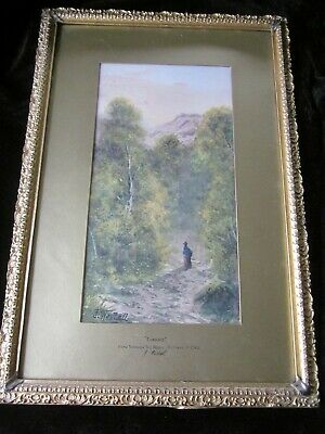 Old Antique Watercolour Painting BETTWYS-Y-COED Signed J WESTALL Listed Framed