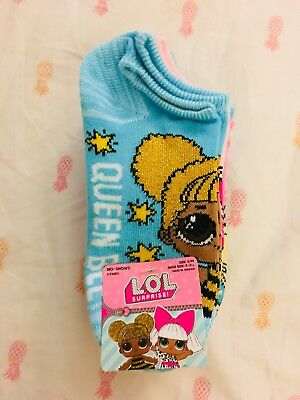 Lol Surprise Doll Socks Size S/M Girls Socks 6 Pairs LoL Socks NEW