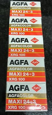 5x Agfa XRG 100 35mm expired film