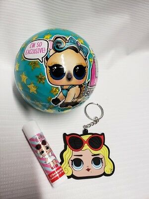 LOL Surprise Supreme Pet Limited Edition Keychain & Lipbalm NEW SEALED