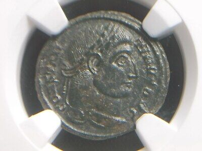 Roman Empire AE3 of Emperor Constantine I The Great,  NGC Ch XF 2026