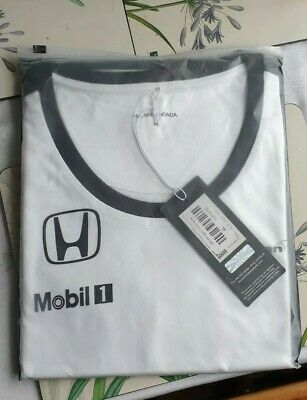 Womens Female McLaren Honda F1 Team T Shirt New UK Size XL White
