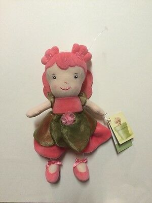 NEW Anne Geddes Beginnings Plush Baby Fairy Princess Doll Lovey Coral Pink Nwt