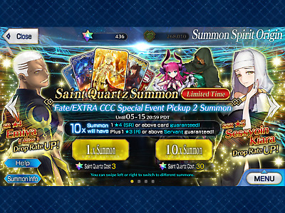 NA FGO / Fate Grand Order Fresh Starter Account + 380 SQ 🌟 21 Million QP