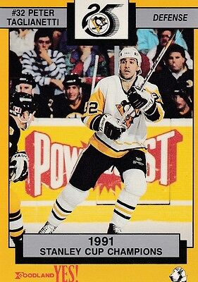 Pittsburgh Penguins Peter Taglianetti 1992 Foodland #14 Of 15