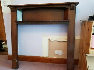 Antique Wooden Fire Surround Fireplace Mantlepiece. Great condition for its age.