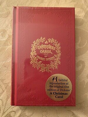 A CHRISTMAS CAROL - Charles Dickens - Replica Book of 1843  NEW  Shipping Fast!!