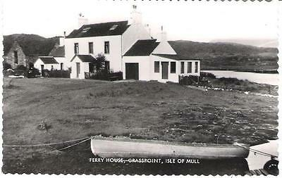 Grasspoint, Isle of Mull - Ferry House - nice real photo postcard c.1950s