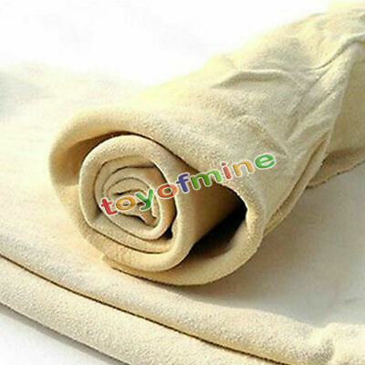 Natural chamois leather voiture chiffon de nettoyage lavage absorbant serviette