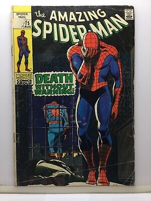 MARVEL Comics The Amazing Spider-man #75 Death Without Warning 1969