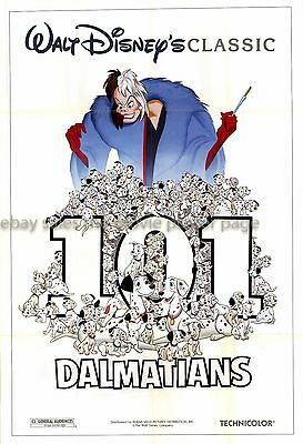 101 Dalmatians R1985 US one-sheet movie poster