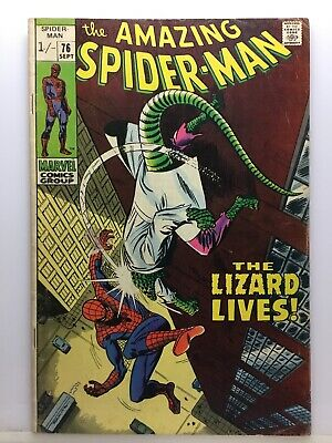 MARVEL Comics The Amazing Spider-man #76 The Lizard Lives! 1969