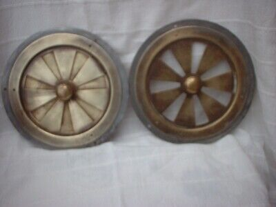 Pair Of Vintage Brass Opening Vents
