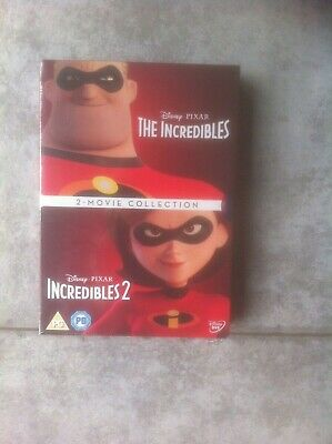 Incredibles 1 and 2 Box set [DVD] [2018][Region 2] NEW & SEALED *FREE POST*