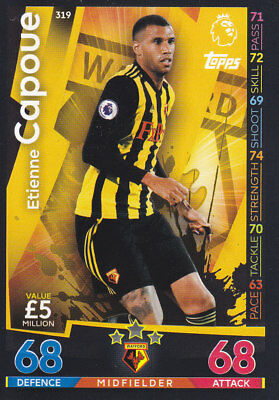 match attax EXTRA 18//19 Etienne Capoue WATFORD SIGNED AUTOGRAPHED