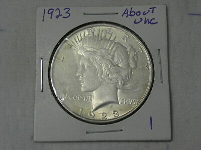 1923  Extra Fine - About Uncirculated  Peace Silver Dollar  #1