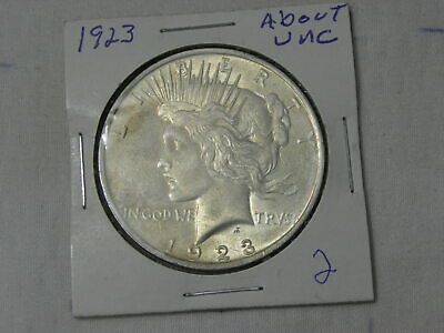 1923   About Uncirculated  Peace Silver Dollar  #2
