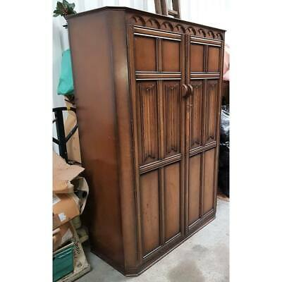 Vintage Oak Double Wardrobe - collection only Weymouth