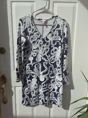 e8637b5d0ef557 LILLY PULITZER DRESS xs - Rare Navy & White Octopus pattern - $30.00 ...